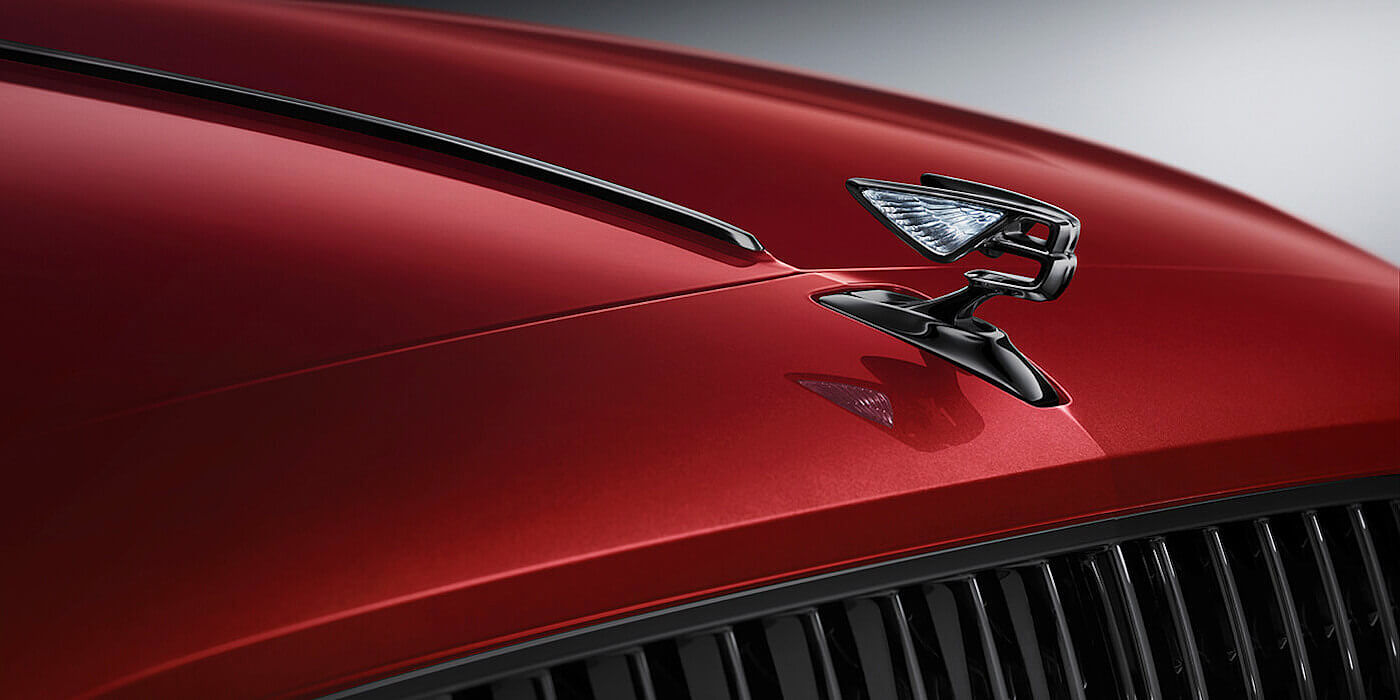new-Bentley-Flying-Spur-V8-Flying-B-bonnet-ornament-on-Dragon-Red-2-paint-colour